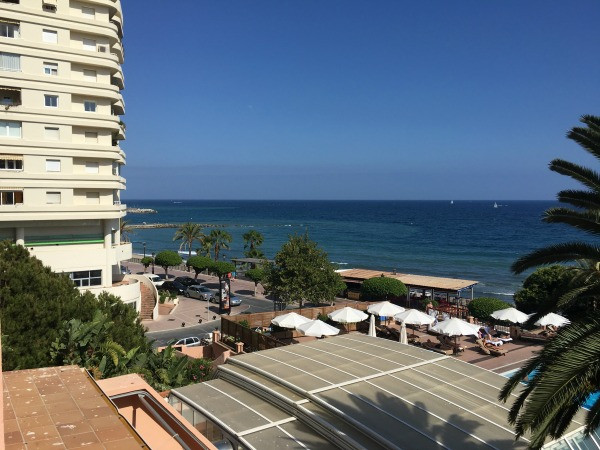 hotel fuerte marbella balcony view from sea view room