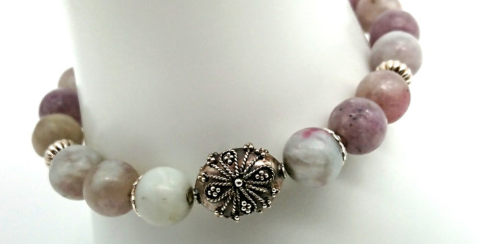 Serenity Vibe Bracelet - Lilac Jasper