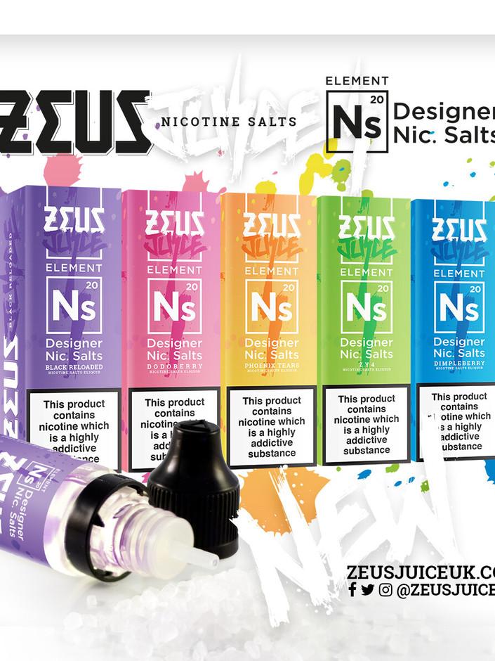 Zeus Salts - 4 for £13