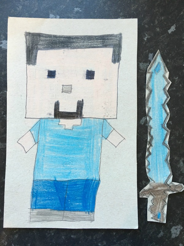our minecraft birthday party