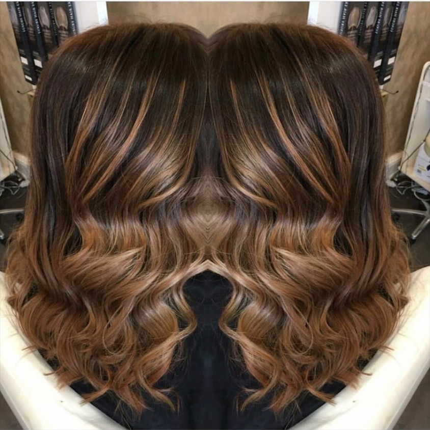 brunette balyage love hair