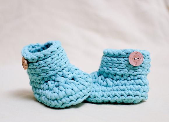Crocheted Baby Booties (Newborn)