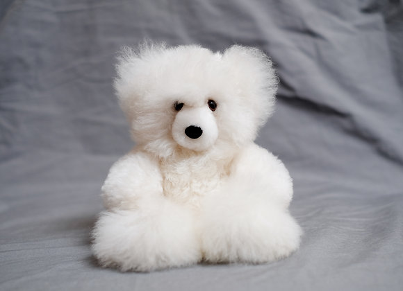 Genuine Alpaca Fleece Bear