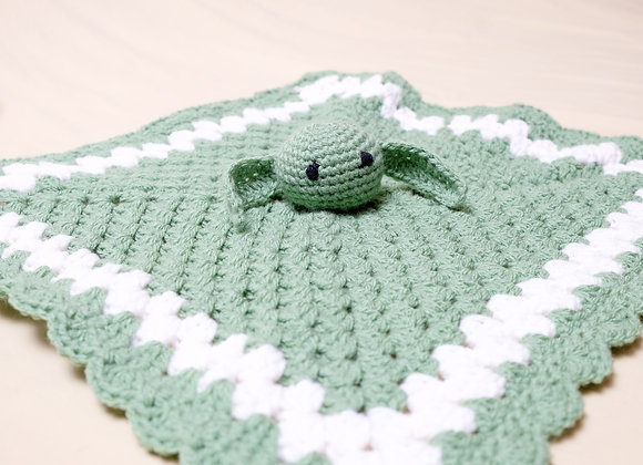 Crocheted Baby Yoda Lovey