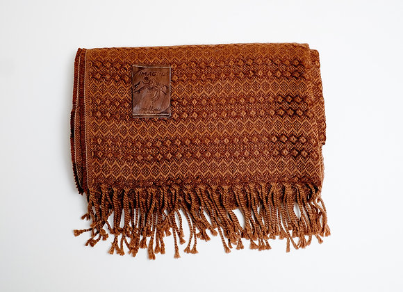 Peruvian Blanket - Brown Diamond Stripe