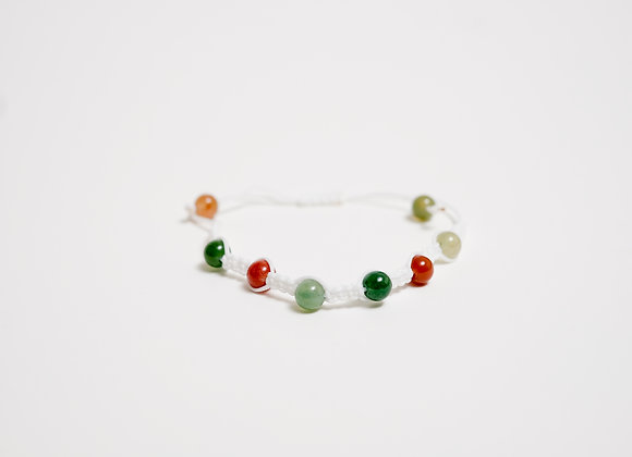 Stone Bracelet - White / Earth Tones