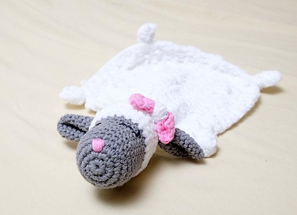 Crocheted Small Lamb Lovey