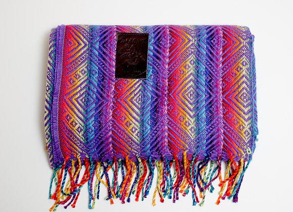 Peruvian Blanket - Purple Rainbow