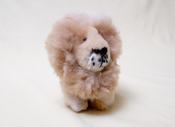 Genuine Alpaca Fleece Lion