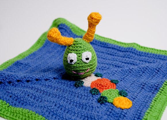 Crocheted Caterpillar Lovey