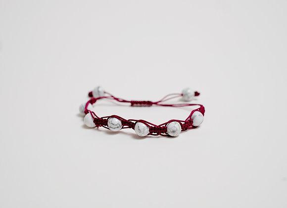 Stone Red Marble Bracelet