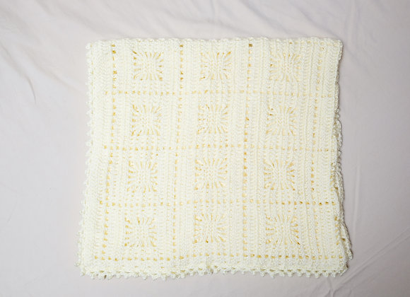 Crocheted Baby Blanket - Yellow