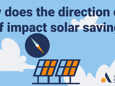 How does the direction of a roof impact solar savings?