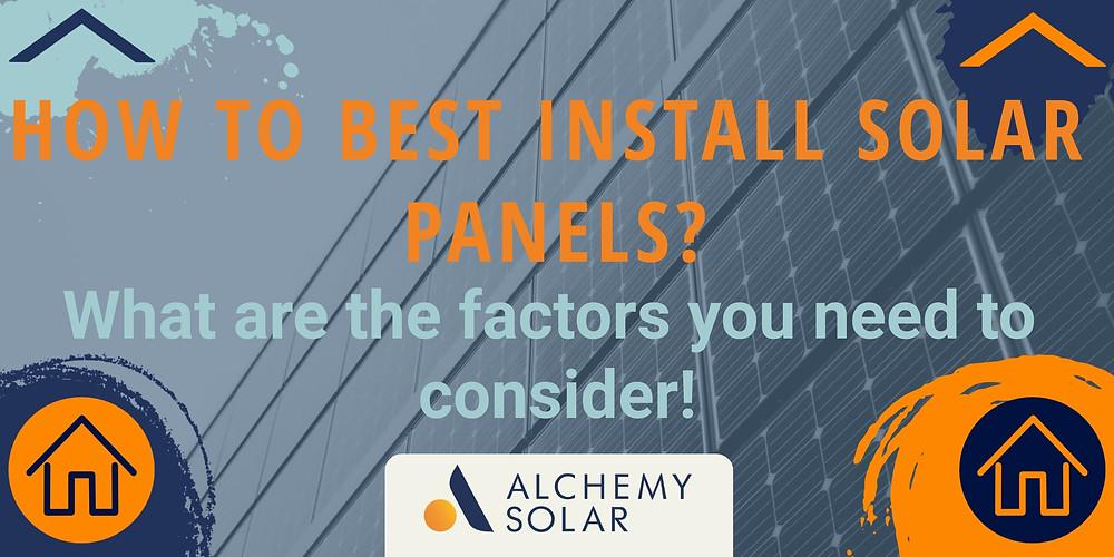 Seven factors for maximizing a solar panel system