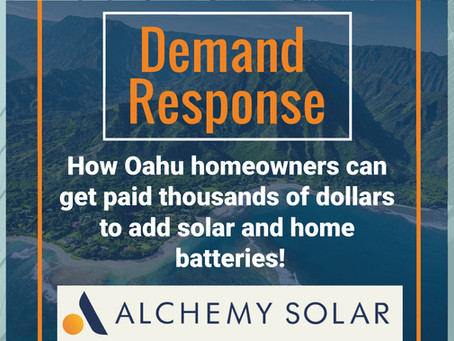 Demand Response: Oahu Solar Battery Bonus pays homeowners thousands to help the grid!