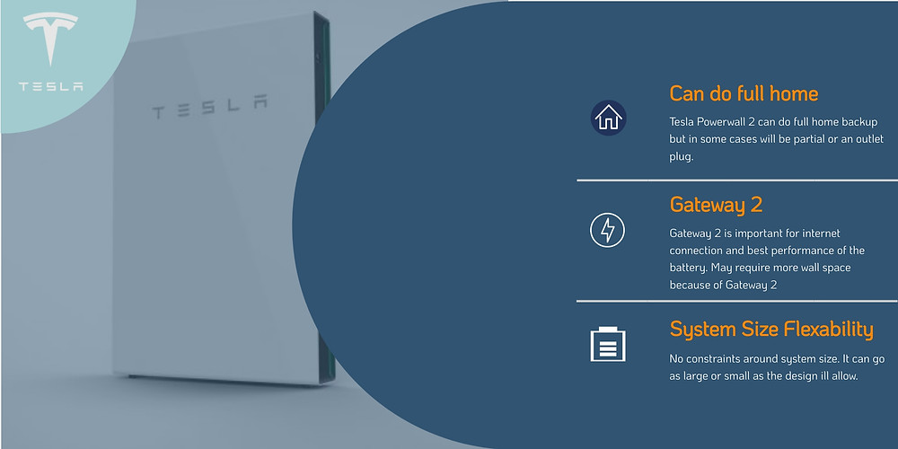 Product information on Tesla Powerwall 2 Home Solar Battery