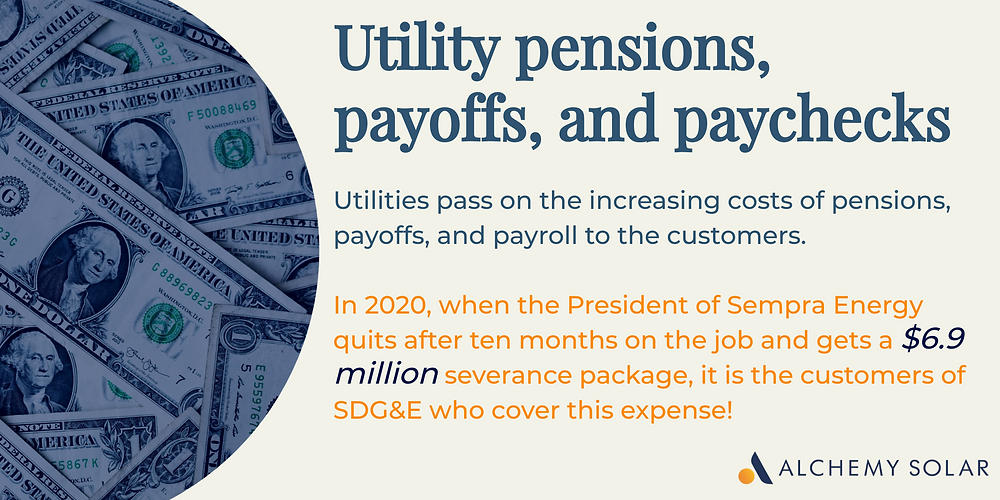 How utilities increase utility rates to cover pensions, payoffs, and paychecks