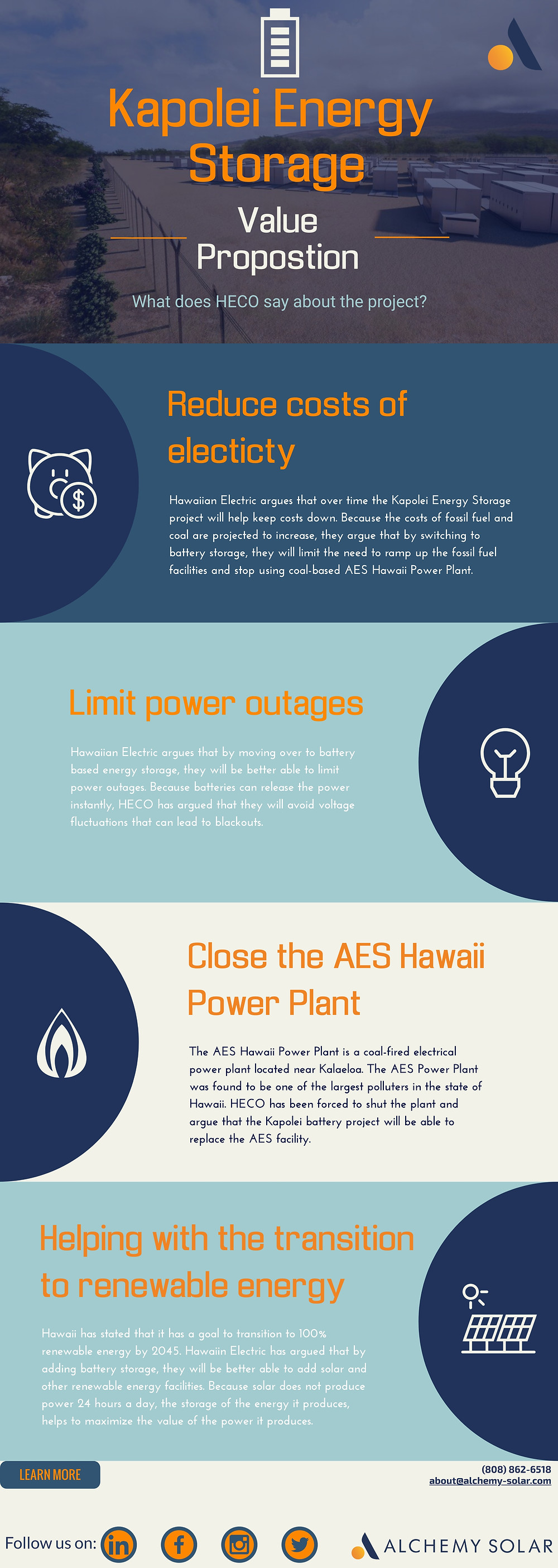 What HECO says the Kapolei Energy Storage Project will do for Oahu