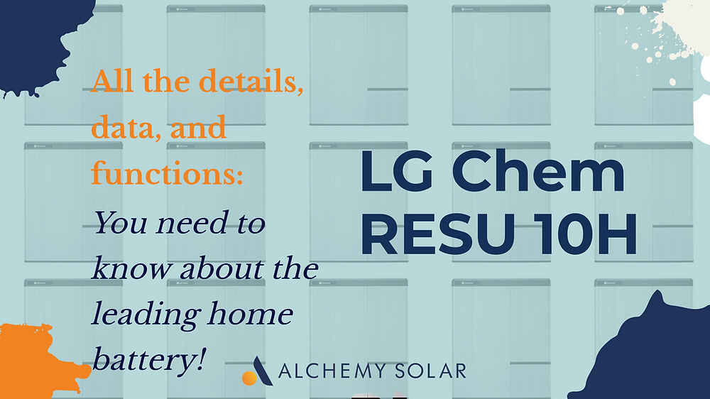 All the information on the LG Chem RESU 10H home battery
