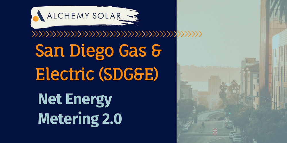SDG&E NEM 2.0 guide thaw net energy metering works in San Diego