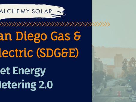 2021 San Diego Gas & Electric (SDG&E) Solar Net Energy Metering (NEM) 2.0