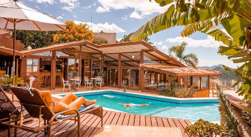 piscina aquecida do restaurante