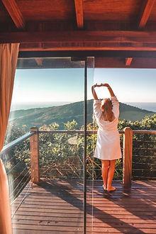 varanda com vista do canto sul praia do rosa