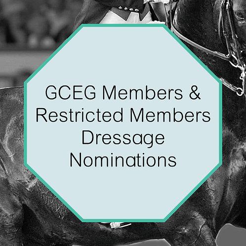 July 2016 Dressage Championships Nominations