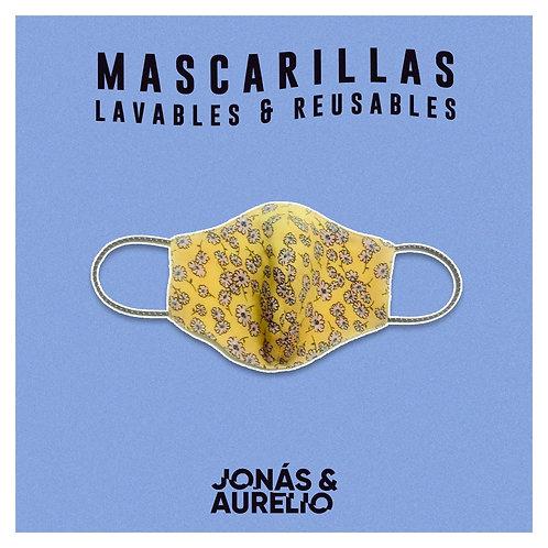 Mascarilla Amarillo margaritas