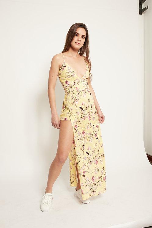 Vestido Largo Aurelia amarillo