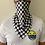 Thumbnail: Mascarilla Deportiva Cuadros Blanco y Negro