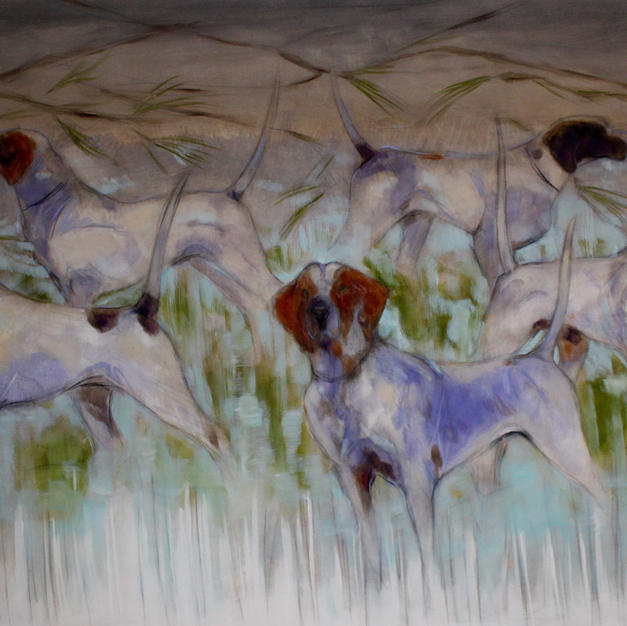 """hounds in turquoise"""