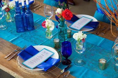 Wedding Blue Table Decor