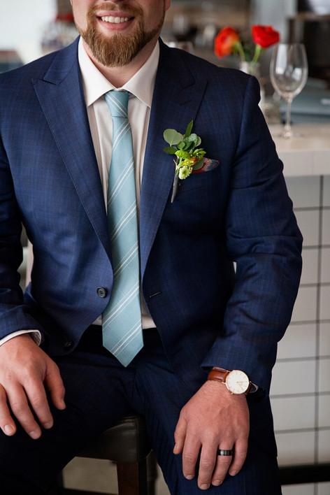 Boutinere on Groom Suit