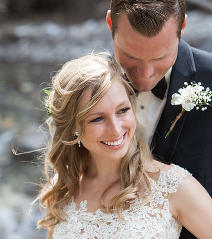 Bride and Groom detail shot from Canmore wedding
