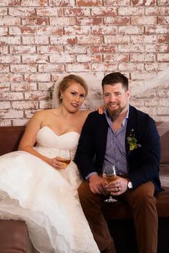 Bride and Groom Wine