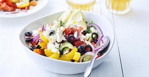 Griekse salade met olijven & feta