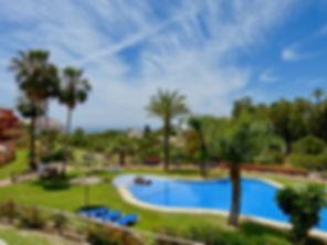 Sea and pool views from the penthouse roof, Manzana 2, La Reserva de Marbella