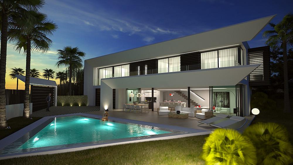 New villa modern design in La Reserva de Marbella
