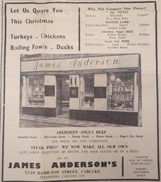 andersons xmas advert - gazette -1970s.j