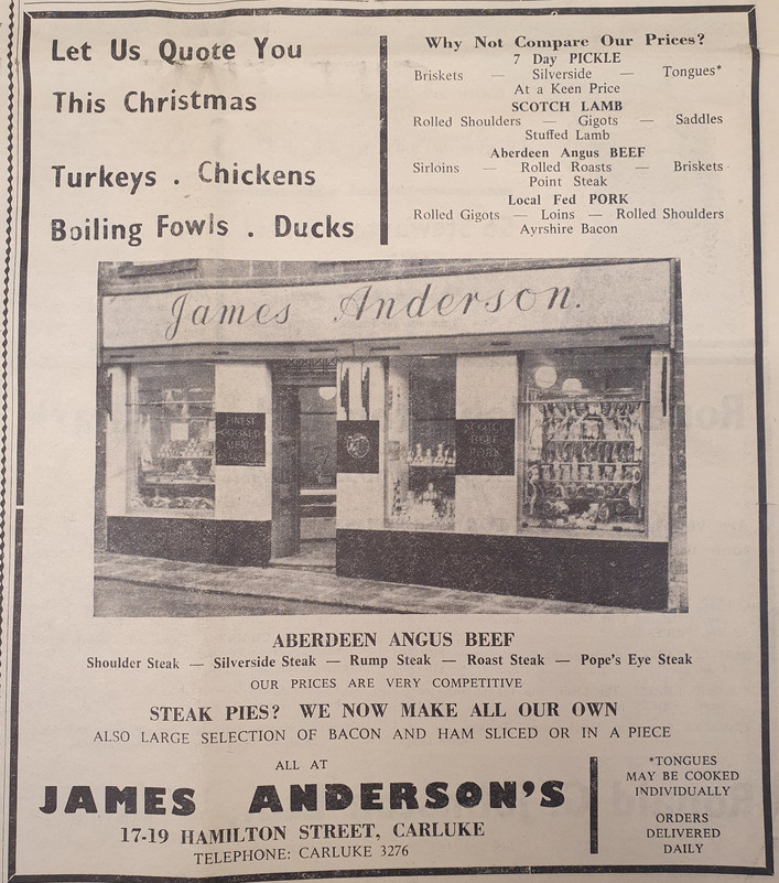 andersons xmas advert - gazette -1970s.j