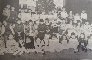 braidwood school p1+2 xmas party - 1984.