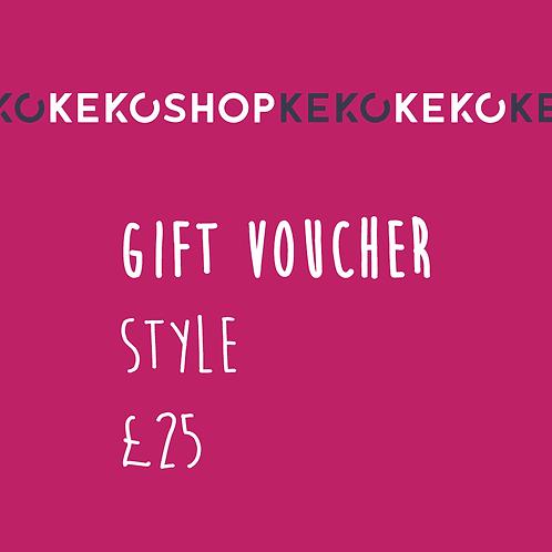 Keko Style Gift Voucher