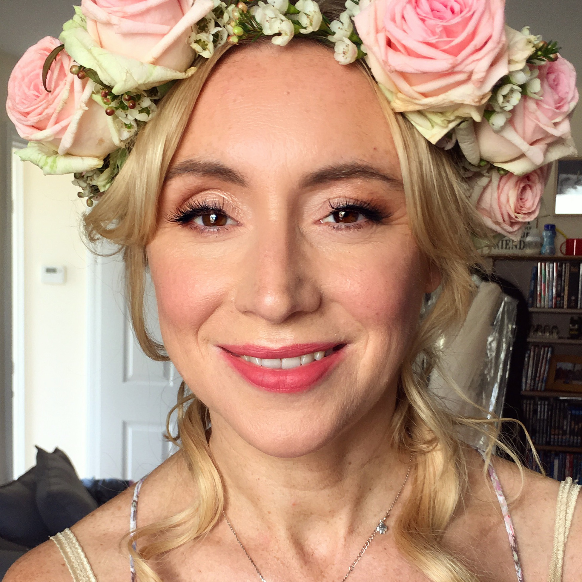 Flower Crown Bride's Makeup