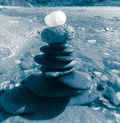 rock stack with quartz