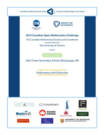 Kevin Canadian Open Mathematics Challenge