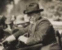 Prieident Theodore Roosevelt spoke athe Sampson Theatre's opening night.