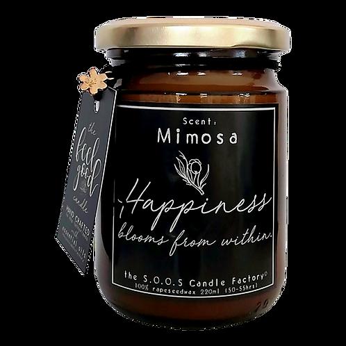 The Feel Good Candle: Mimosa 220 ml (50 à 55 branduren)