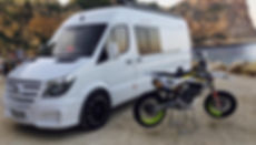 Sporthome conversion on a mercedes sprinter for a Supermoto / motocross customer