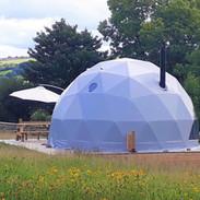 Glan Môr (Seaside Dome) in the meadow